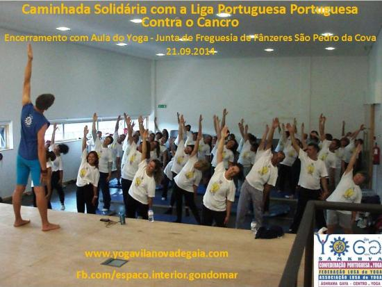 21.09.2014 - Yoga Vila nova de Gaia - Aula Liga Portuguesa Contra o Cancro - S. Pedro da Cova - 1