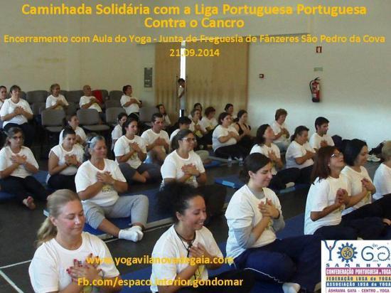 21.09.2014 - Yoga Vila nova de Gaia - Aula Liga Portuguesa Contra o Cancro - S. Pedro da Cova - 2