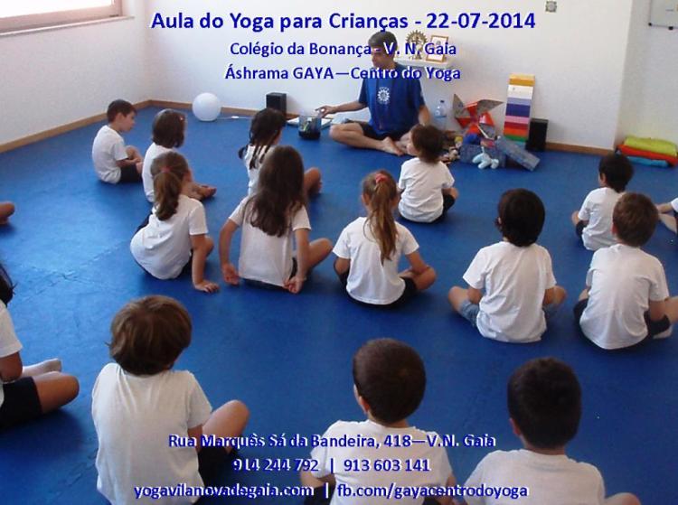 22.07.2014 - Yoga Vila nova de Gaia - Aula Colégio da Bonança - 1