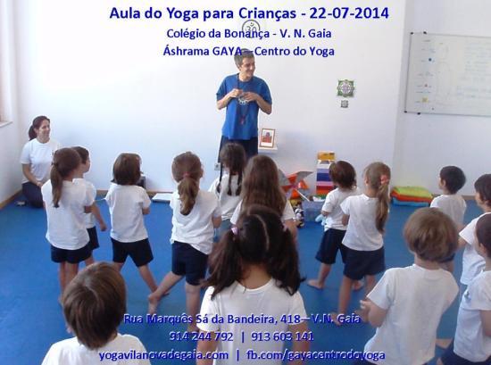 Yoga para Crianças do Colégio da Bonança - VNG - 22.07.2015