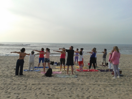 25.10.2014 - Yoga Vila nova de Gaia - Yoga na Praia (Francelos) - 2