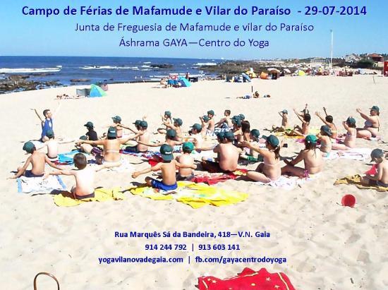 29.07.2014 - Yoga Gaia - Campo de Férias de Mafamude e Vilar do Paraíso