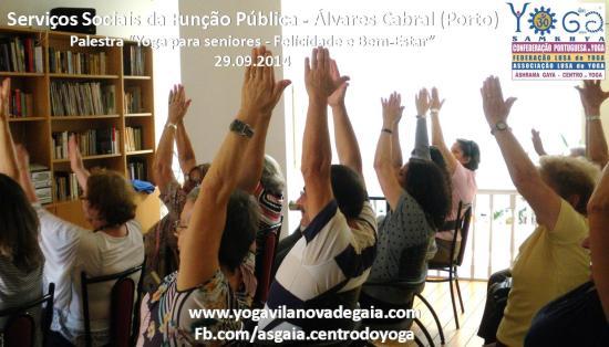 29.09.2014 - Yoga Gaia - Palestra Seniores - Serviços Sociais Função Pública (Álvares Cabral) 2