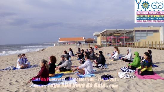 21.03.2015 - Yoga na Praia Francelos (VNG)